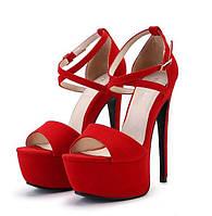 Женские открытые босоножки на высоком каблуке, фото 1