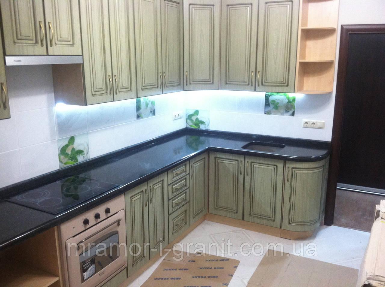 Кухонные столешницы из черного гранита