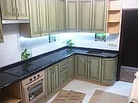 Кухонные столешницы из черного гранита, фото 1
