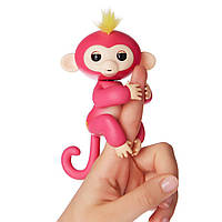 Интерактивная ручная обезьянка Fingerlings Happy Monkey Bella РОЗОВЫЙ