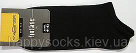 Тонкие короткие мужские носки черного цвета