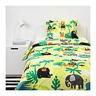 ИКЕА (IKEA) DJUNGELSKOG, 203.935.20, Комплект постельного белья, зверюшка, зеленый, 150x200/50x60 см - ТОП ПРОДАЖ, фото 4