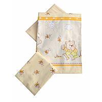 Сменное детское постельное белье Twins Comfort С-010 Медвежонок с пчелками, желый