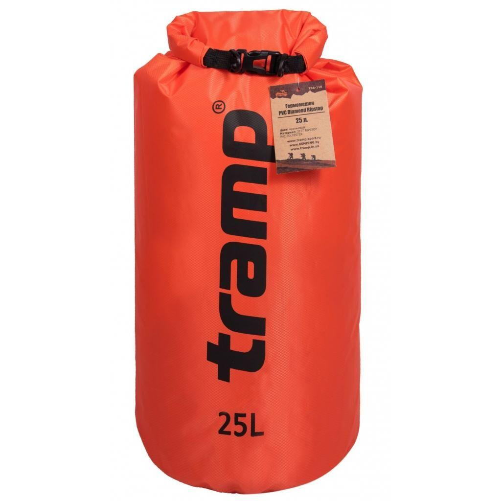 Гермомешок Tramp PVC Diamond Rip-Stop 25л оранжевый (TRA-118-orange)