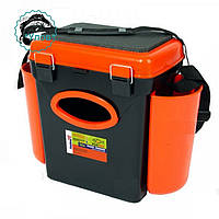 Ящик рыболовный для зимней рыбалки Тонар Fishbox (10л) (оранжевый)