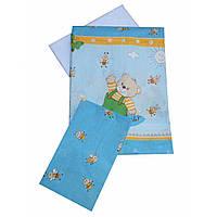 Сменное детское постельное белье Twins Comfort С-011 Медвежонок с пчелками, голубой