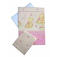 Сменное детское постельное белье Twins Comfort С-016 Медвежата с звездочкой, розовый