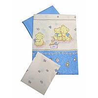 Сменное детское постельное белье Twins Comfort С-017 Медвежата с звездочкой, голубой