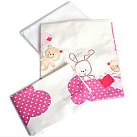 Сменное детское постельное белье Twins Comfort С-019 Горошки, розовый