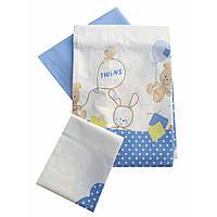 Сменное детское постельное белье Twins Comfort С-020 Горошки, голубой