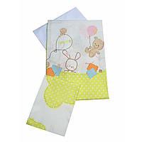 Сменное детское постельное белье Twins Comfort С-022 Горошки, зеленый