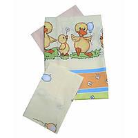 Сменное детское постельное белье Twins Comfort С-027 Уточки, зеленый