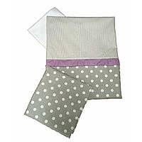 Сменное детское постельное белье Twins Premium P-009 Glamur серый/фиолетовый