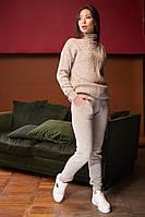 Стильный, вязаный костюм, ткань итальянская пряжа, размер универсальный 44-48