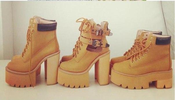 Женские открытык высокие ботинки на толстом каблуке