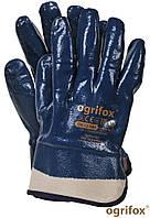Рабочие перчатки нитриловые  МБС Ogrifox OX-NITERFULL G с твердым манжетом