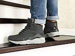 Мужские зимние кроссовки Nike Air Huarache (серые), фото 2