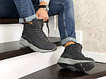 Мужские зимние кроссовки Nike Air Huarache (серые), фото 4