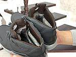 Мужские зимние кроссовки Nike Air Huarache (серые), фото 5