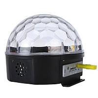 Диско шарMusic BallMp3USB LED + флешка