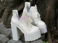 Стильные женские  ботильоны на высоком каблуке, фото 1
