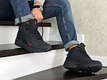 Мужские зимние кроссовки Nike Air Huarache (темно-синие, с красным), фото 2