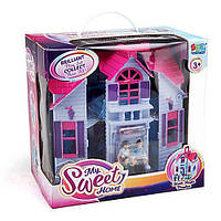 Игровой набор для девочки Домик для кукол (F611) раскладной, с фигурками, с мебелью, с аксесс., в коробке
