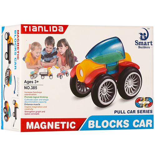 Детский Конструктор 385 магнитный транспорт