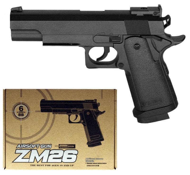Игрушка для мальчика детский Пистолет CYMA ZM26 с пульками Метал