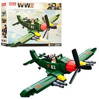 Конструктор SLUBAN M 38 B 0683 Военный самолет  в коробке | самолетик
