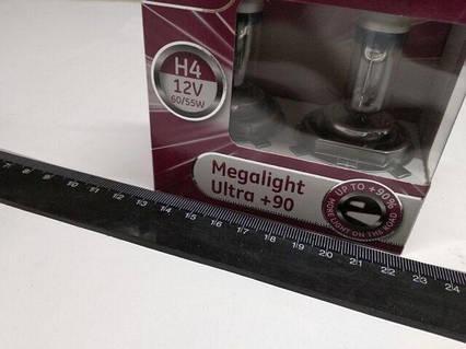 Лампа General Electric H4 12V 60/55-43 Megalight Ultra  +90% (50440SXU.2D) пара