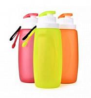 Складная спортивная бутылка из экологически чистого силикона 320 мл S3M