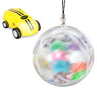 Желтая мини машинка с лазером в прозрачной колбе Rapid Monster | бешеная игрушка SUNROZ S168 | спинер