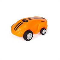 Оранжевая мини машинка с лазером в прозрачной колбе Rapid Monster | бешеная игрушка SUNROZ S168 | спинер