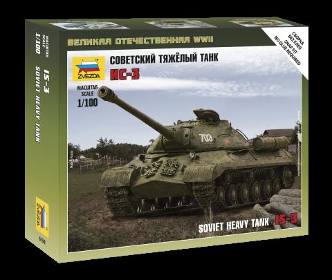 ИС-3 советский тяжелый танк. Сборная модель в масштабе 1/100. ZVEZDA 6194