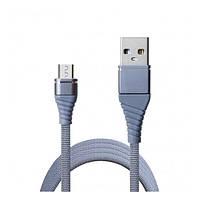 Кабель USB (папа) = microUSB (папа) 1.2 м Grand-X NM012GR Blue
