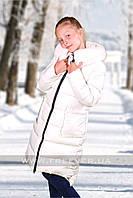Детские пальто для девочек FREEVER 4401 молочное