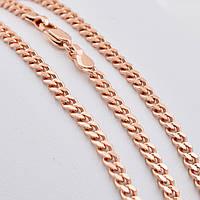 Цепочка Позолота 585 пробы длина 50 см, ширина 4 мм,медицинское золото, ювелирный сплав, бижутерия