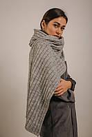 Женский серый шарф