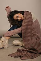 Женский розовый шарф