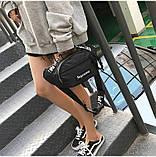 Бананка SUPREME поясная сумка суприм сумочка мужская женская чоловіча жіноча 8005/13 черная, фото 5