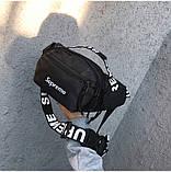 Бананка SUPREME поясная сумка суприм сумочка мужская женская чоловіча жіноча 8005/13 черная, фото 2