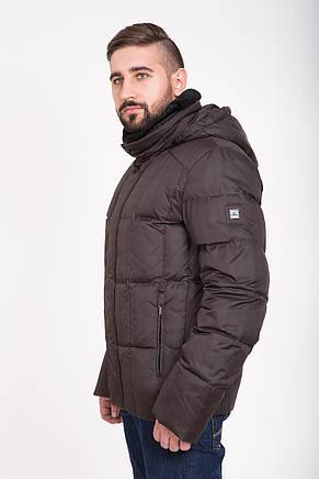 Зимний мужской пуховик Clasna с мехом CW13MD40 #711_коричневый, фото 2