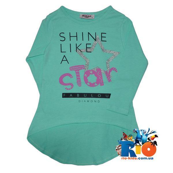 """Детский батник """"Star"""" для девочек, трикотаж (92-128 см), 4 ед в уп"""
