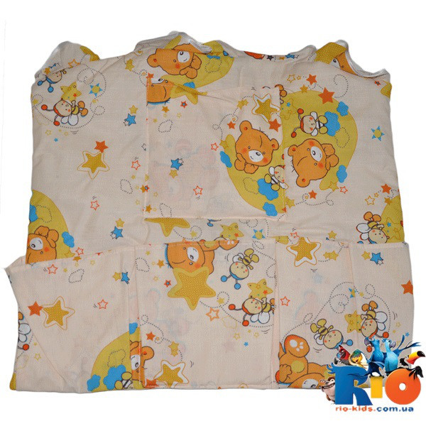Карман на детскую кроватку  (хлопок): ширина 60см длина 50 см (мин зказ 1 ед)