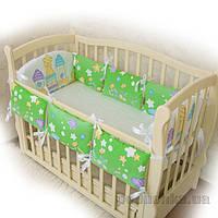 Защитное ограждение для детской кроватки Замок салатовый поплин Бетис 27082168