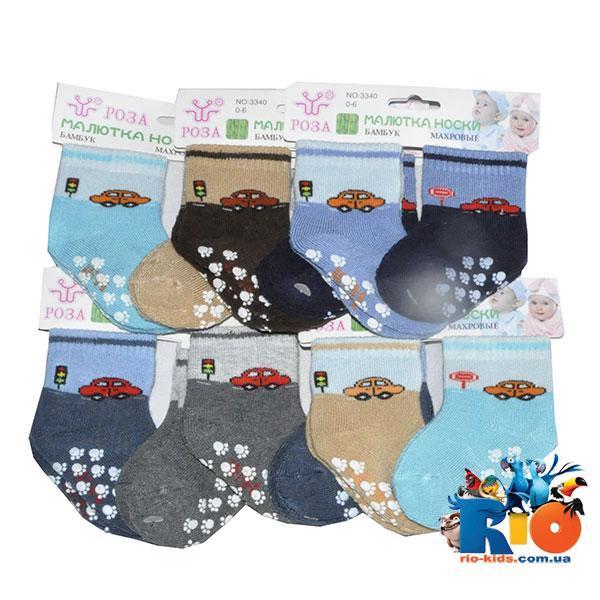 Детские махровые носки (80% хлопок, 15% спандекс, 5% эластан), для детей от 0 до 6 мес (12 ед в уп.)