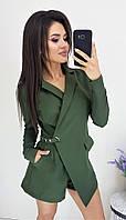 """Стильное платье-комбинезон """"Duval"""" с карманами и длинным рукавом (3 цвета)"""