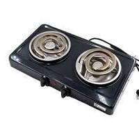 Электроплита Domotec MS 5532  спиральная,настольная на 2 конфорки 2000Вт, фото 1