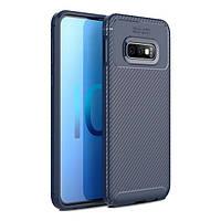 Накладка для Samsung Galaxy G970 S10e TOTO TPU Carbon Fiber 1,5mm Case Dark Blue